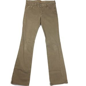 """7 For All Mankind LONG Cotton """"Suede"""" Bootcut Jean"""